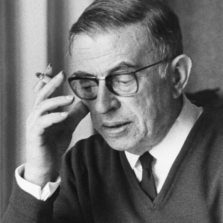 Philosopher & playwright, Jean-Paul Sartre (1968)